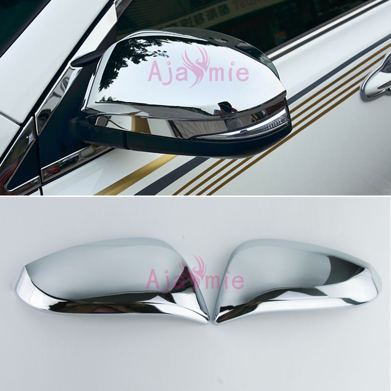 Door Mirror Cover Rear View Overlay Rearview Trim Panel Chrome Car Styling 2015 2016 <font><b>2017</b></font> For <font><b>Toyota</b></font> <font><b>4Runner</b></font> Accessories image