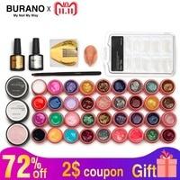 Burano Hot 36colors uv gel nail polish kit manicure set nail art tools topcoat building gel set 806