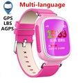 Новейшие Q50 Q60 Q80 GPS Tracker Часы для Детей Дети водонепроницаемый Smart Watch с SOS поддержка GSM телефон Android и IOS Анти потерял