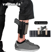Vapanda Nylon Holster Black Magazine- ի քսակ կոճ ոտքի թաքցնում Carry Glock 19 26 27 42 43 Gun Pistol Ruger Sig Tactical Holster