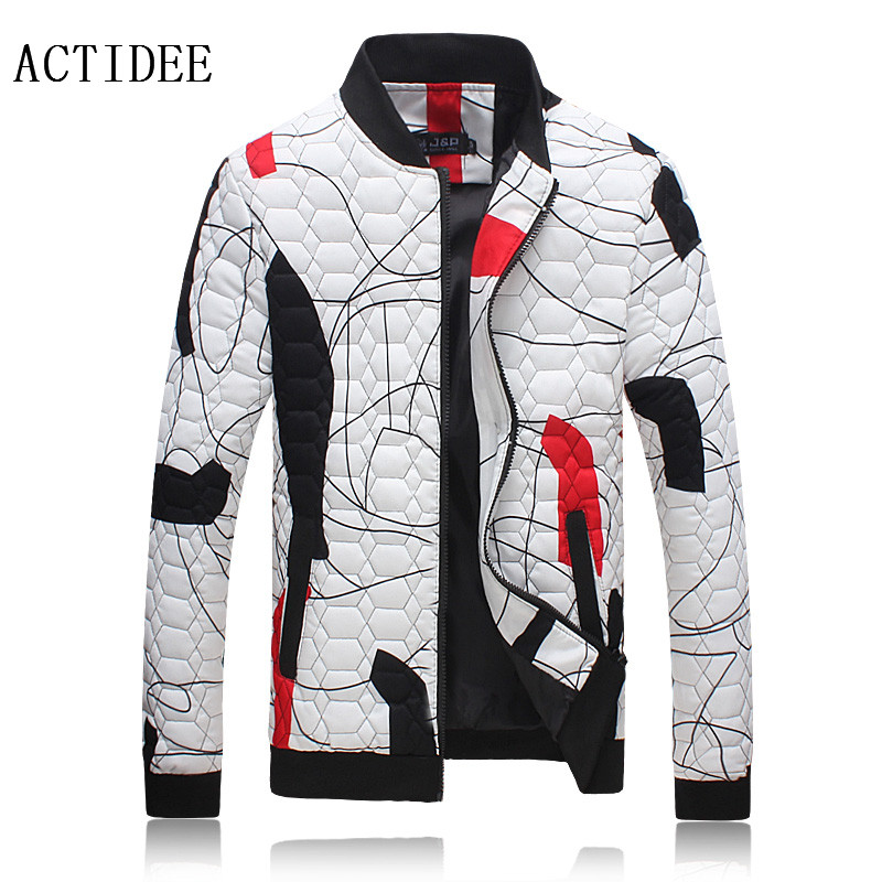 ФОТО  New Winter Jackets Men Stand Collar Print Cotton Down Floral Jacket Brand Plus Size 3XL 4XL 5XL Mens Winter Coat Men Jacket
