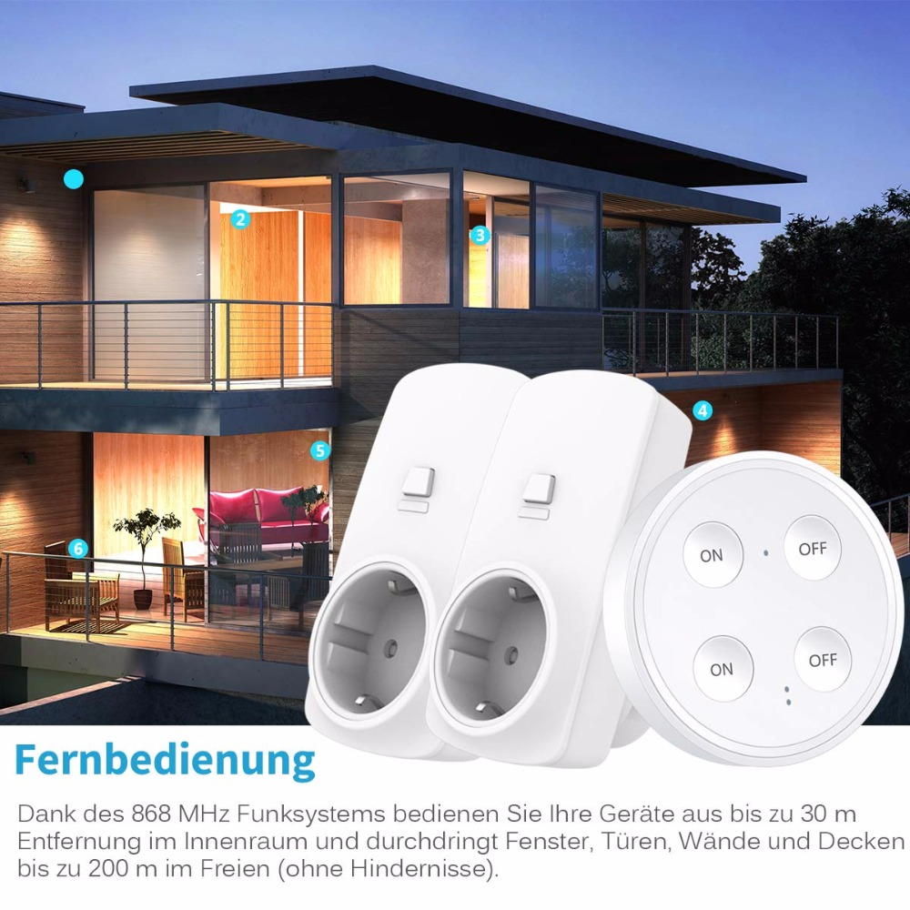 Image 5 - Wireless Socket Kit, EU Plug and MINI Wireless Switch, Mountable or Portable, Remote Control Device Outlet up to 30m-in Electrical Sockets from Home Improvement