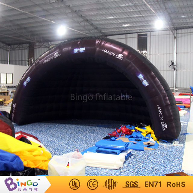 Free shipping 5X2.5X3 meters Inflatable half dome tent LED lighting all black Blow up tent with blower toy tents & Online Shop Free shipping 5X2.5X3 meters Inflatable half dome tent ...