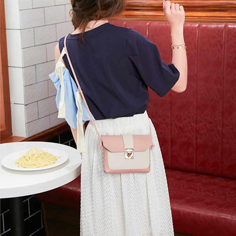 Nowe Pu skórzane małe torebki damskie czerwone różowe torby Crossbody blokada projekt panie Mini torby listonoszki Sac A Main