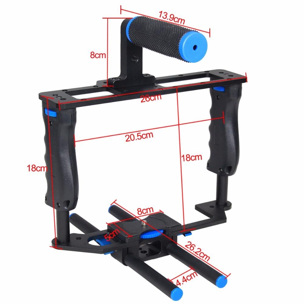 bilder für YELANGU C2 Aluminiumlegierung Professionelle DSLR Kamera Käfig SLR Video Käfig kit mit top handgriff für canon 5d mark ii/5d mark III