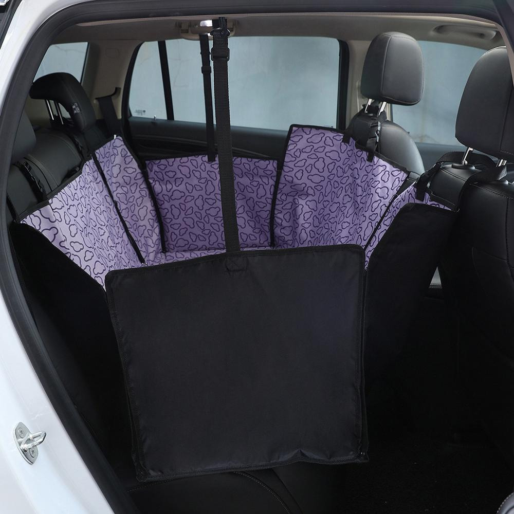Dog Cat Car Rear Back Seat Cover Pet Carrier Portable Pet Dog Mat Blanket Mat Hammock Cushion Protector Carrier With Zipper
