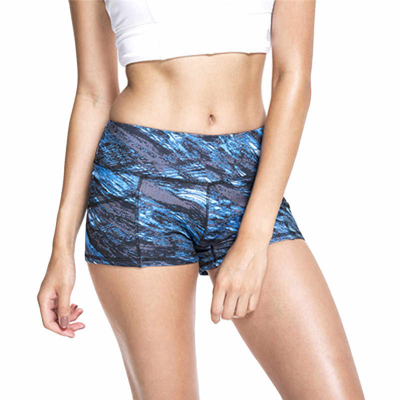 Ladies Push Hips Sexy Shorts Printed Strength Gym Trunks Quick Dry Sport Running Fitness Yoga Shorts Running Tight Sportswear f3