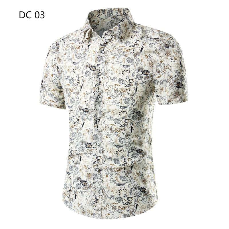 a07d95a7b 2019 New Mens Beach Hawaiian Shirts Tropical Summer Short Sleeve Shirts  Mens Clothing Casual Loose Button