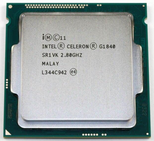 Intel Celeron G1840 2 8GHz 2M Cache Dual Core CPU Processor SR1VK SR1RR LGA1150 Tray
