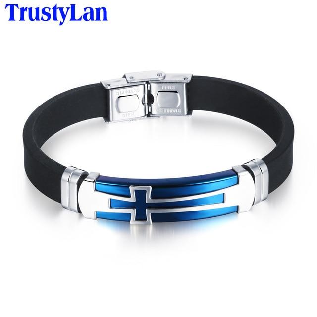 TrustyLan Aliexpress Coole Punk Kreuz Stil Fiber Silikon Armband ...