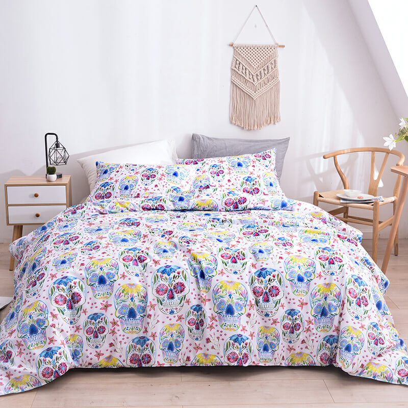 Skull Bedding Sets 9 Size Single EU Double Full Queen King Size Duvet Cover Sets with Pillowcase Set in Duvet Cover from Home Garden