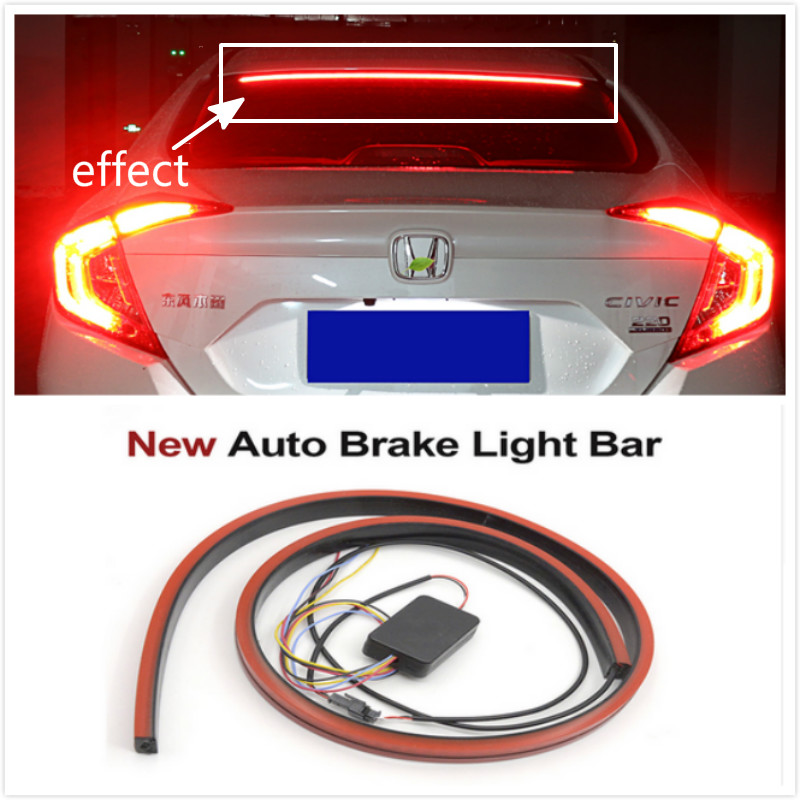 Flowing Flashing LED Car Brake Light Strip Brake Reverse lamps For Audi A4  8P A3 B5 B6 B7 B8 A6 C5 A5 TT Q3 Q5 Q7 A1 A2 A7 A8 S3