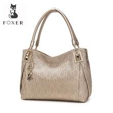 FOXER Brand Women Cow Leather Shoulder bag Fashion Design Hi