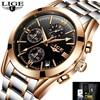 2017 BIDEN Men Full Steel Watches Male Fashion Sports Watch Quartz Clock Man Military Waterproof Wristwatches