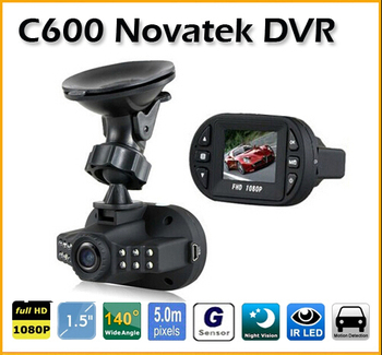 Mini Dash Cam DVR Camera 1.5 inch Full HD 1080P 12 IR LED Vehicle CAM Video Camera C600 Recorder Car DVR 160 degree camera image