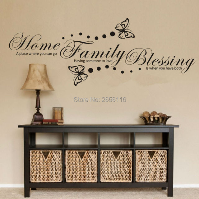 Decorative Letter Home Sayings Wall Sticker Erfly Vinyl Wallpaper Decor For House Decoration