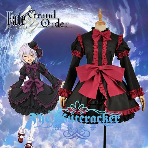 2018 hot Anime Fate-Epilogue Event Assassin Ripper Jack Lolita Dress For Women Cosplay Costume Halloween Freeship