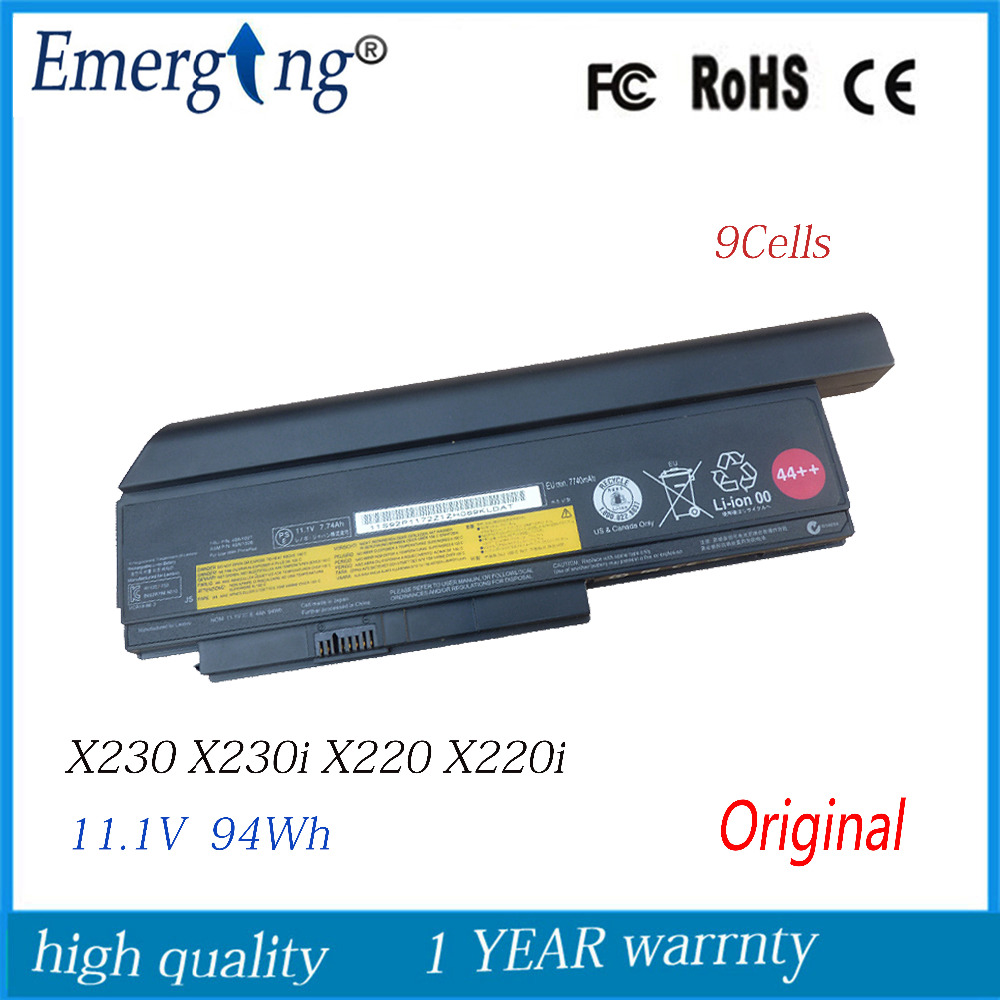 9cell 94wh Original New Laptop Battery for Lenovo Thinkpad X220I X220 X220S X230 X230I 0A36307 42T4940 0A36281
