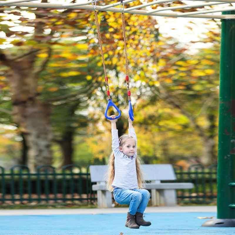 خواتم يد خشبية أرجوحة لعبة هدية خارجية رياضية لياقة بدنية مستلزمات أطفال أرجوحة خارجية لعبة نشاط عائلي لعبة نشاط