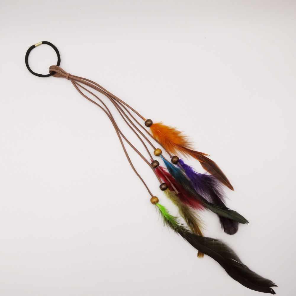 1 шт./Партия Красочные Перьевые Украшения коса для волос dread дредлок бусины кольца для наращивания волос аксессуары для волос
