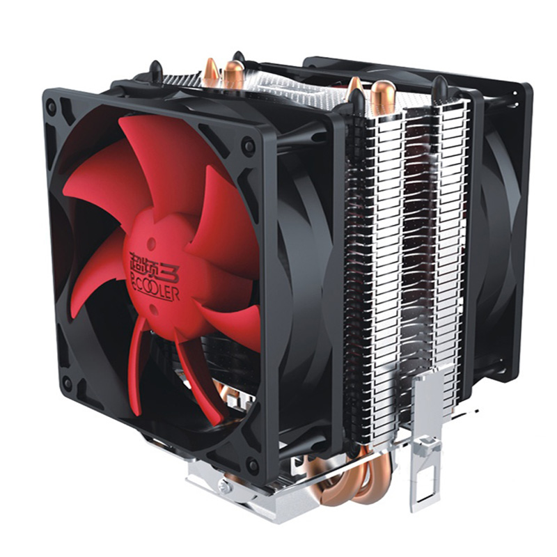 Dual-fan 2 heatpipe CPU Cooler cooling for Intel LGA1151 775 1150 1155 radiator for AMD CPU fan PcCooler S80Ex Gift1366 Stent vakind mute computer cooling fan cpu cooler 35pcs heatsink double heatpipe radiator for intel amd platforms cpu radiator