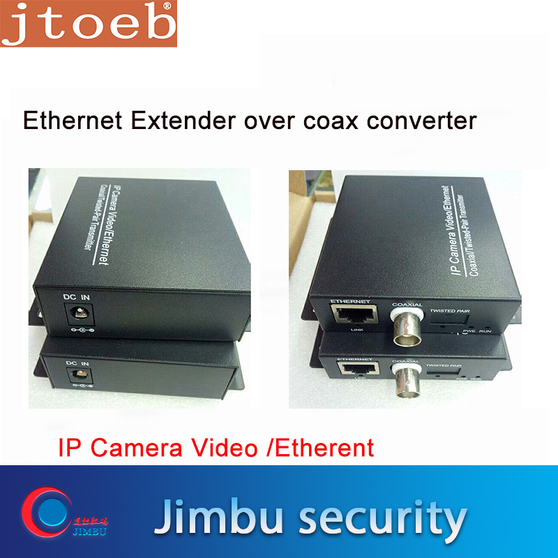Ethernet Extender Over Coax Converter For IP Cameras Video / Ethernrt Coaxial / Twisted-Pair T  2KM