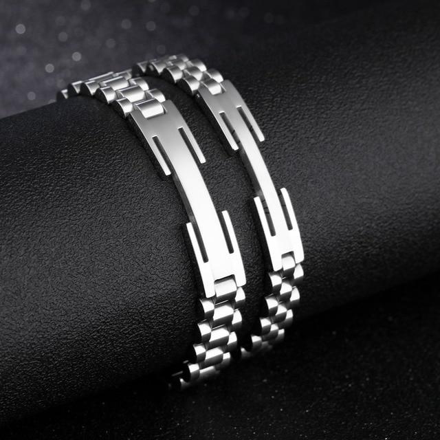 Фото модный браслет из нержавеющей стали для мужчин и женщин спортивные