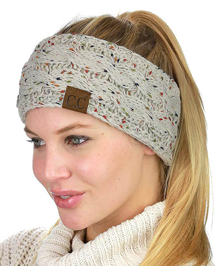 900015fbea3 Braided Hat Winter Women Lady Cap Hair Band Empty Head Skullies ...