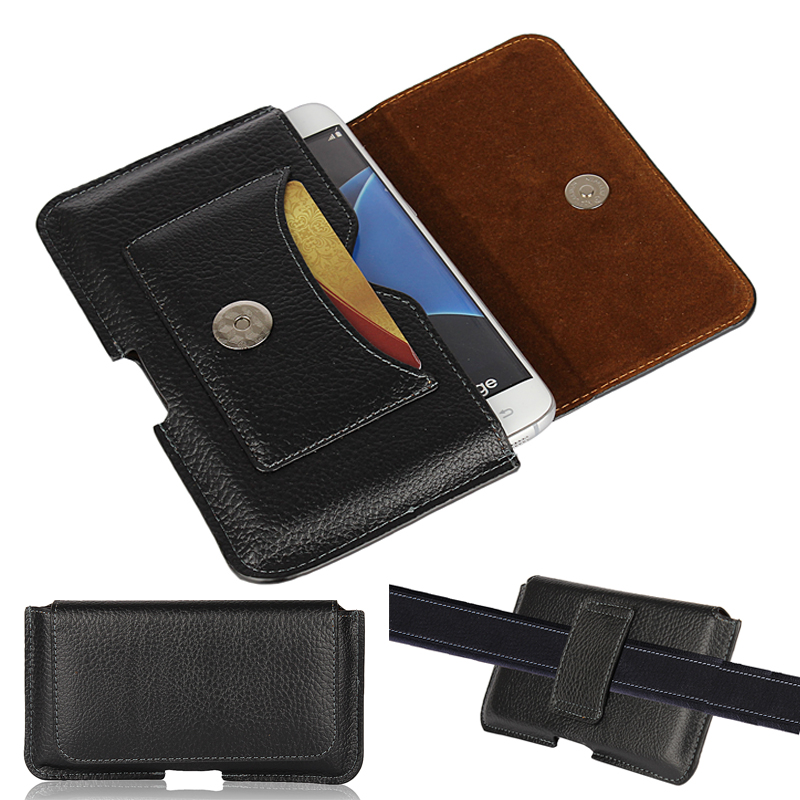 S M L Universal Mobile Phone Leather Belt Clip Pouch Holster Bag Case For iPhone X 8 7 6 6s Plus Samsung Xiaomi Huawei Waist Bag