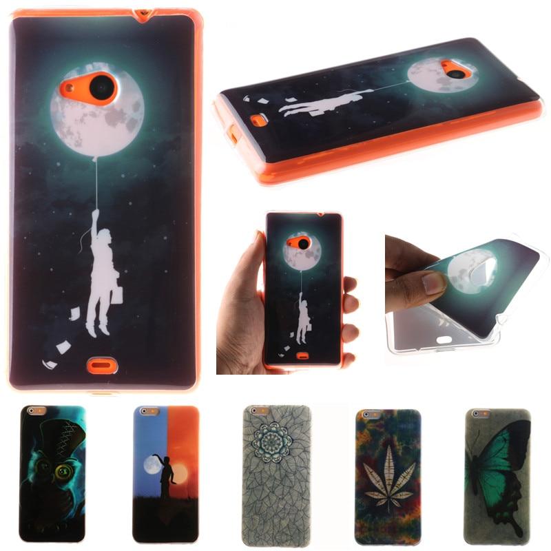 Cute Cartoon Moon Owl Flowers Butterfly Soft TPU Fundas Case For Microsoft Nokia Lumia 530 N530 535 N535 630 N630 640 N640 Cover