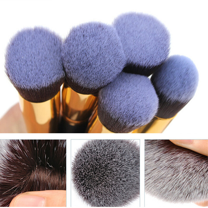 Image 2 - 2019 New Arrive 10 Pcs Makeup Brush Set Soft Synthetic Hair Cosmetics Foundation Powder Blending Blush Lady Beauty Makeup Tools-in Eye Shadow Applicator from Beauty & Health