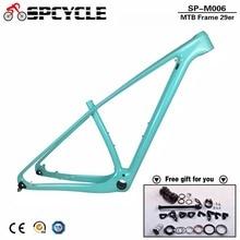 Spcycle T1000 полный кадр MTB углерода 29er углерода горного велосипеда 142*12 мм через ось углерода MTB велосипеда кадры пользовательские Краски