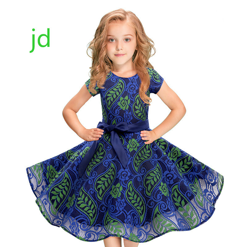 Lace Printing Ball Full Kids Dresses For Children Clothing Girls Summer Flower Party Princess New 4pcs new for ball uff bes m18mg noc80b s04g