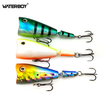 HAOS 7cm 7.5g Big Mouth Popper Fishing Bait Topwater Attractive Popping Swimming Artificial Multi-Jointed Lifelike Lure