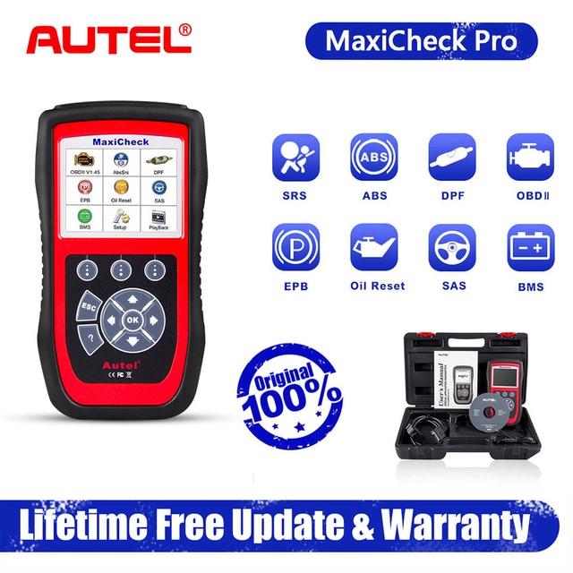 Autel – MaxiCheck Pro Scanner de voiture, outil de Diagnostic automatique, prise OBD2, prise OBD ii