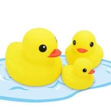 3 шт/лот Детские Игрушки для ванны желтые утки семейный душ