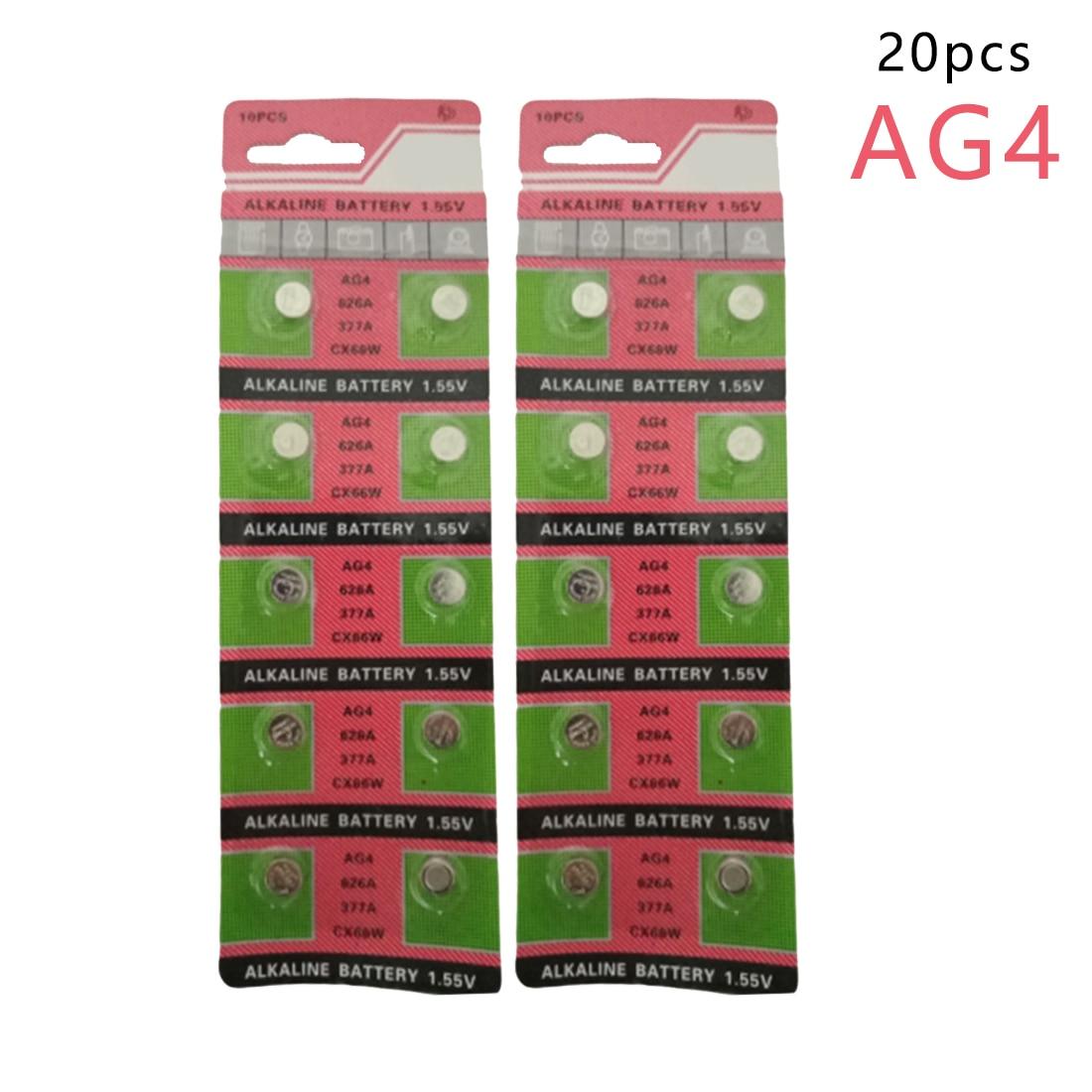 Centechia 20 PCS Wholesale AG4 377A 377 LR626 SR626SW SR66 LR66 button cell Watch Coin Battery accell replacement 1 5v 26mah ag4 lr626 377 sr626 177 button batteries 10 pcs
