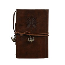 1Pcs PU Leather Note Book Spiral Notebook Diary Notepad Vintage Pirate Anchors Replaceable Stationery Gift Traveler Journal S01