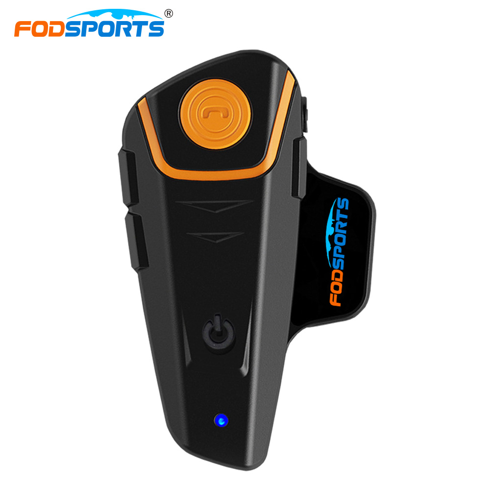 Fodsports BT S2 Pro Motorcycle Intercom Helmet Headset Wireless Bluetooth Waterproof Interphone Intercomunicador Moto FM-in Helmet Headsets from Automobiles & Motorcycles