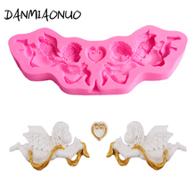 Lovely Angel boy Silicon Molds Lollipop Silicone Candy Baking Tools For Cakes Decorations Lace Mold DIY