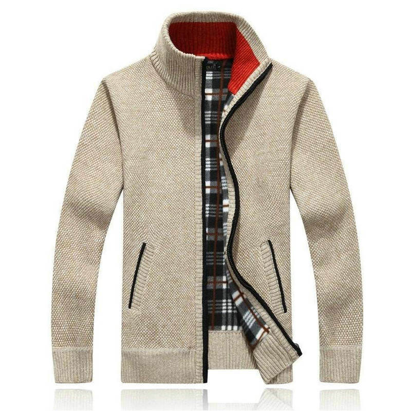 Autumn Winter Knitted Cardigan Men Casual Warm Men Sweater Hot Fashion Winter Mens Sweatercoat(JDYM)