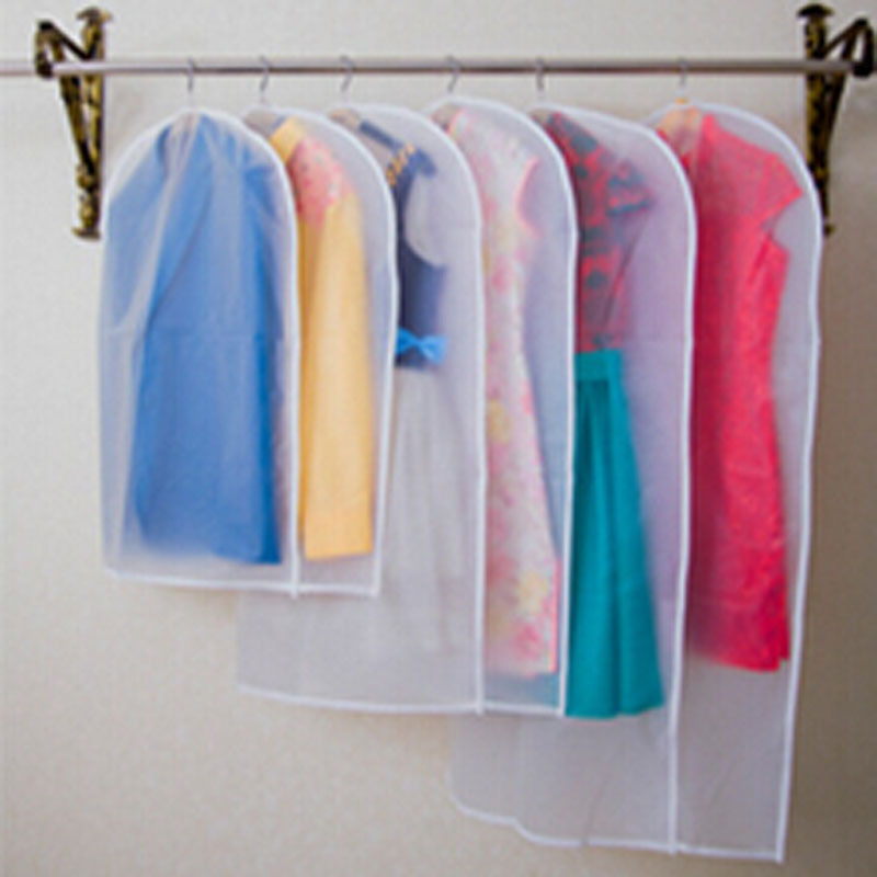 Transparent Wardrobe Storage Bag Cloth Hanging Dress Clothes Garment Suit Cover Suit Coat Dustproof Covers Home Zipper ProtectoR