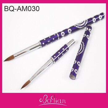 BQAN Free Shipping Wholesale Brand New Acrylic Paint Brush Acrylic Nails Supplies Acrylic Brush Kolinsky in Nail Brush