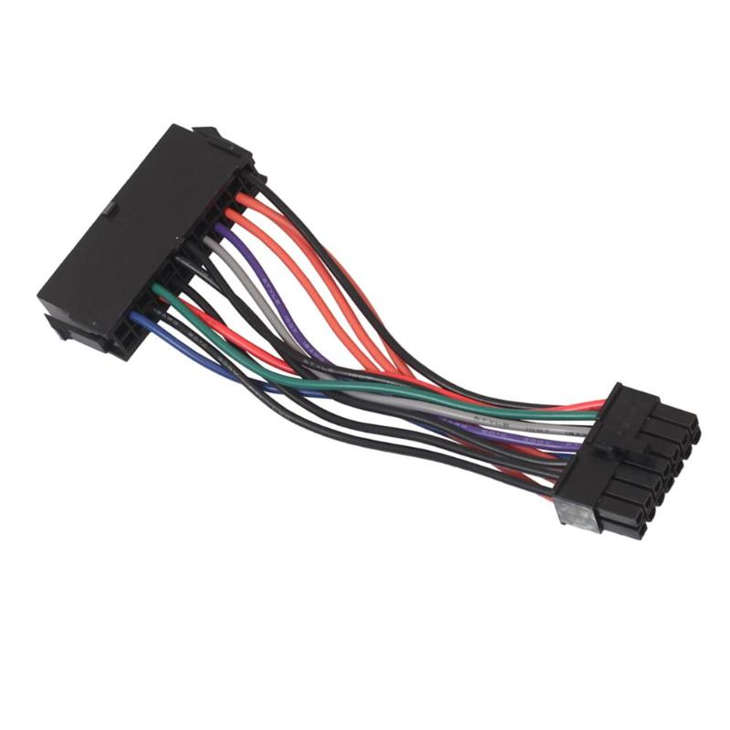 ALLOYSEED ATX <font><b>24pin</b></font> <font><b>to</b></font> <font><b>14pin</b></font> <font><b>Adapter</b></font> Power Cable 18AWG Cord for Lenovo for IBM Q77 B75 A75 motherboard main board image