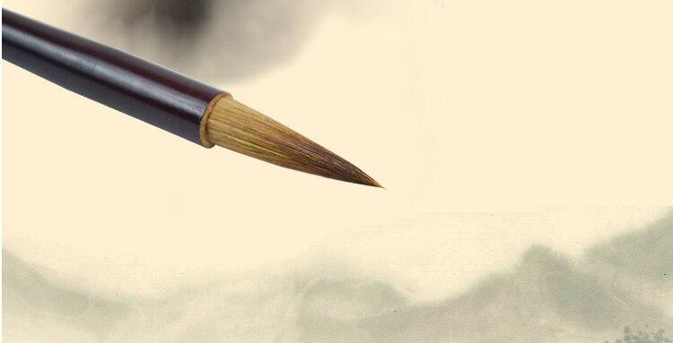 Pintura Escova De Cabelo de Lã Cabelo Fuinha Caneta