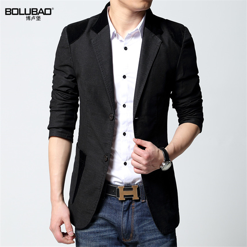Aliexpress.com  Buy New 2016 Men Casual Blazer Jackets Khaki Korean Blazer Men Slim Fit Blazer ...