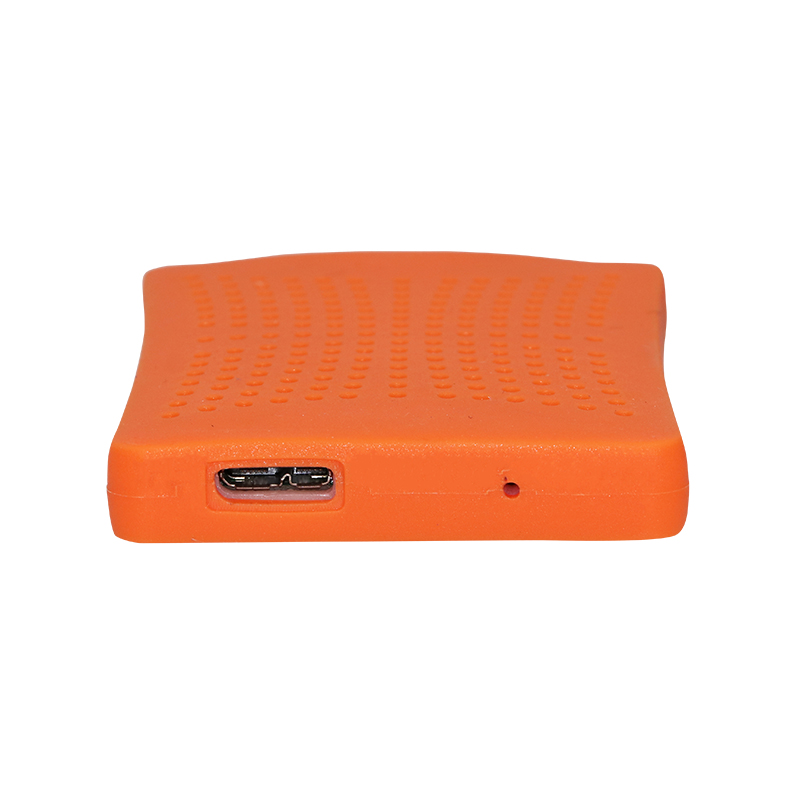 SATA USB 3.0 Blue Orange HDD Case with 250G Hard Disk Heating Release Rubber Case 2.5 fast reading speed Case