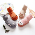 2017 kid's socks stereo cartoon socks cotton baby shoes socks slip-resistant toddler baby floor socks