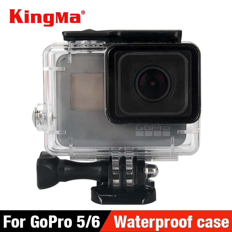 KingMa 40 Underwater Waterproof Case for GoPro Hero 7 6 5 Black Go Pro Hero 6 Diving Housing Mount for GoPro Hero 6 Accessory shoot 45m waterproof case for gopro hero 7 6 5 black action camera underwater go pro 5 protective case mount for gopro accessory