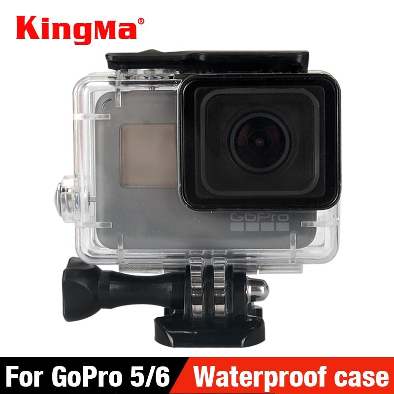 KingMa 40 Underwater Waterproof Case for GoPro Hero 5 Black Go Pro Hero 6 Camera Diving Housing Mount for GoPro Hero 6 Accessory